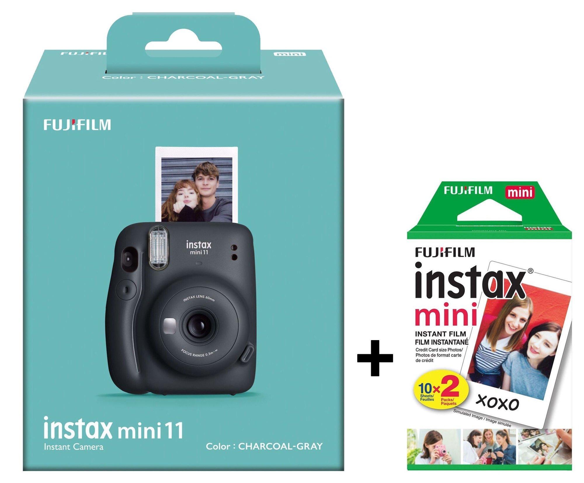 Fujifilm Instax Mini 11 Charcoal Gray + 10 film